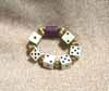 Bunco Dice Bracelet with decorated Beads