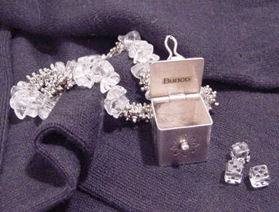 terling Silver, Bracelet, Bunco, dice, Bunco Bracelet, Bunco Jewelry, Bunco.com