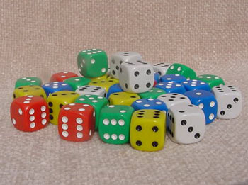 Dice, 5/8, Bunco Dice