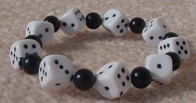 Bunco Jewelry, Dice, Bracelet, Bunco Dice Bracelet, Bunco jewelry