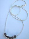 Sterling Silver, Bunco, Bunco Necklace for Bunco Night, Bunco Jewelry, Bunco.com