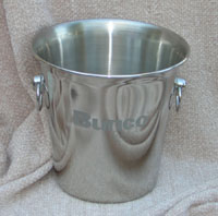 Bunco_Ice_Bucket with etched Bunco and dice ... includes tongs